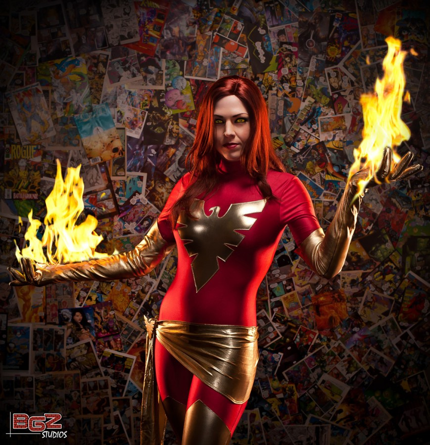 Dark Phoenix with real fire